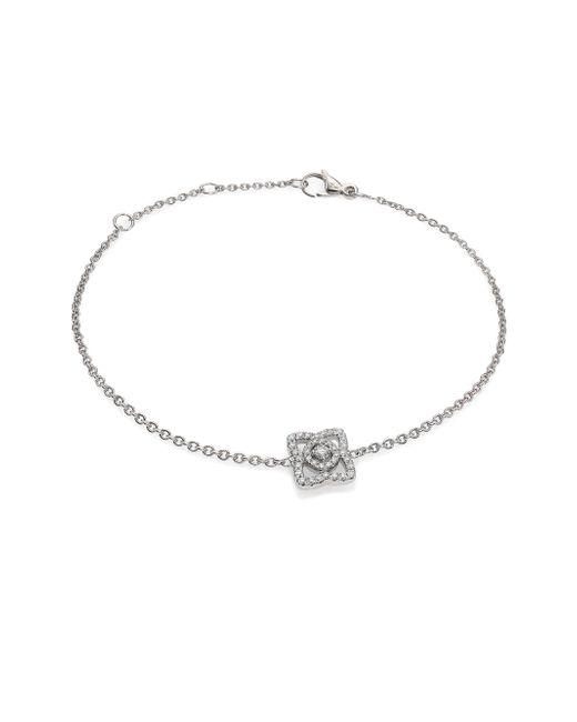 De Beers | Enchanted Lotus Diamond & 18k White Gold Chain Bracelet | Lyst