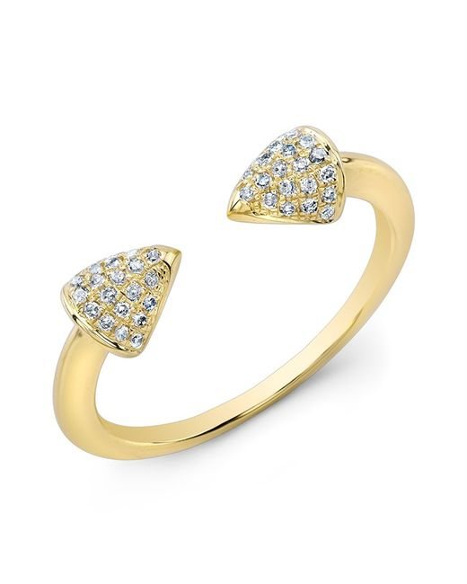 Anne Sisteron | Metallic 14kt Yellow Gold Diamond Toro Ring | Lyst