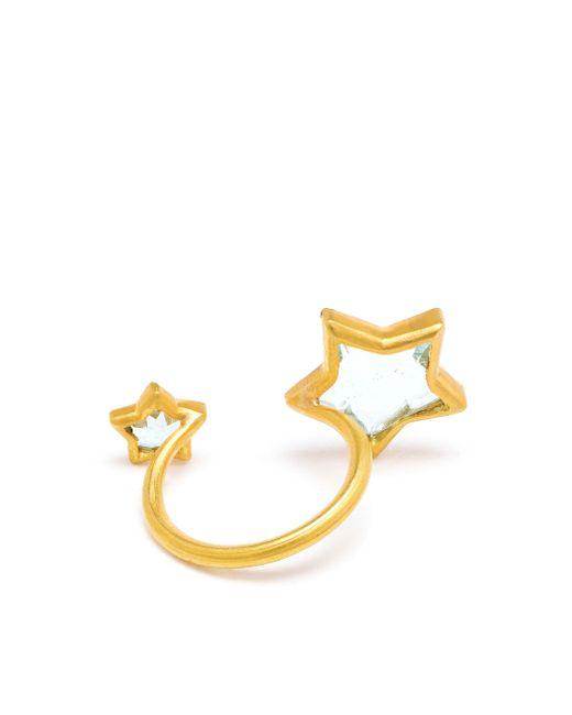 Marie-hélène De Taillac   Blue 22k Yellow Gold Aquamarine Double Star Ring   Lyst