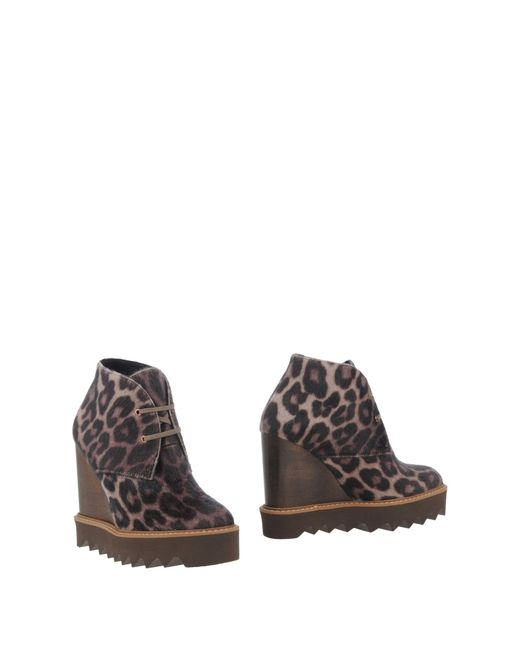 Stella McCartney | Natural Ankle Boots | Lyst