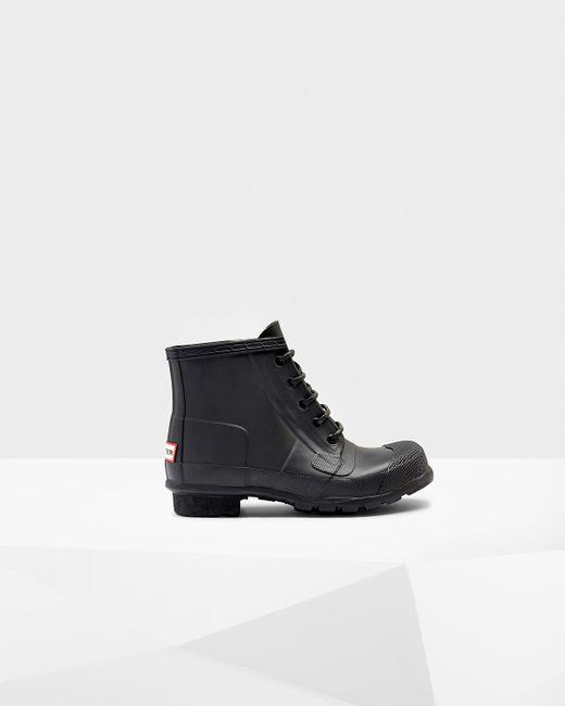 Hunter | Black Women's Original Lace Up Boots | Lyst