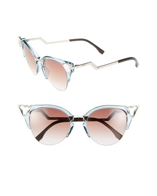 88c3ed1f80e49 Fendi Cat Eye Sunglasses Crystal
