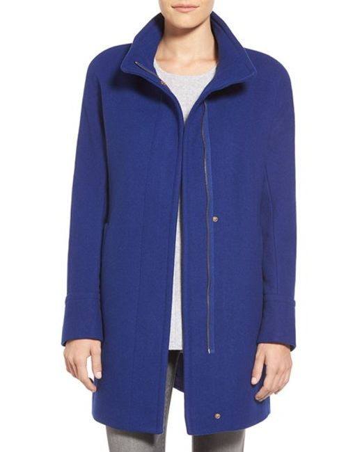 Ellen Tracy | Green Wool Blend Stadium Coat | Lyst