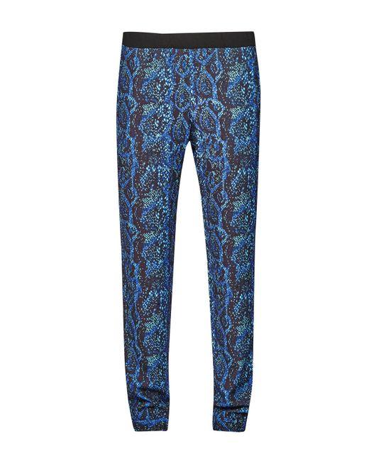 French Connection | Black Soho Boa Drape Trousers | Lyst