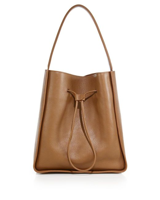 3.1 Phillip Lim | Brown Soleil Large Leather Drawstring Bucket Bag | Lyst