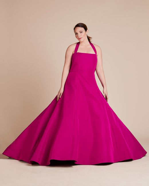 Christian Siriano - Pink Halter Neck Gown - Lyst
