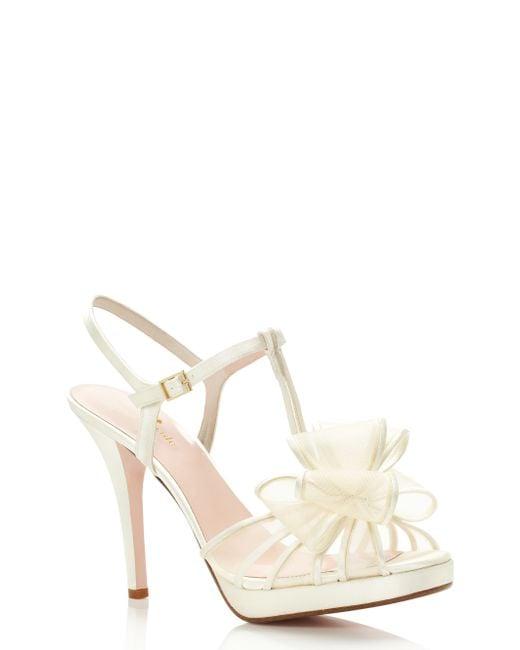 kate spade new york | White Ribbon Heels | Lyst