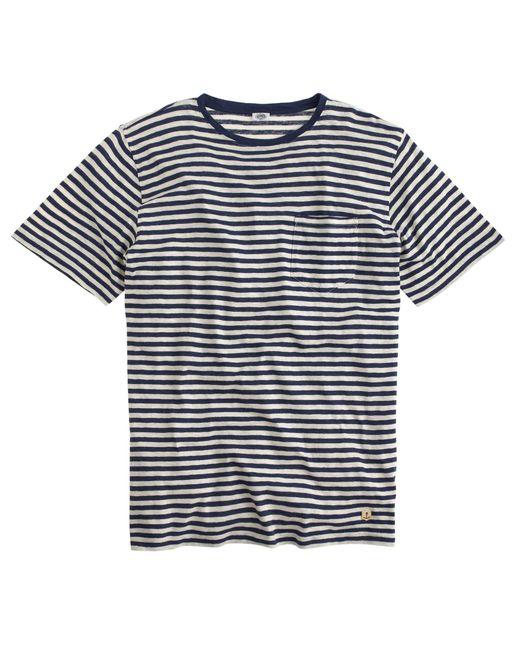 J.Crew   Blue Armor-lux Striped T-shirt for Men   Lyst