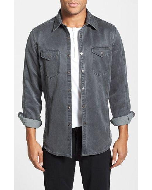 Jeremiah | Black 'colt' Regular Fit Sueded Cotton Blend Shirt Jacket for Men | Lyst