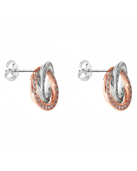 Ib&b   Metallic 9ct Gold Stud Earrings   Lyst