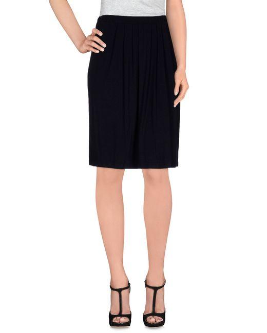 Almeria | Black Knee Length Skirt | Lyst
