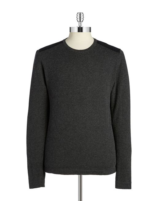 John Varvatos | Gray Cotton And Wool Pullover for Men | Lyst