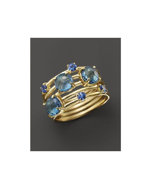 Ippolita | 18k Gold Lollipop Constellation Ring In London Blue Topaz And Medium Blue Sapphire | Lyst
