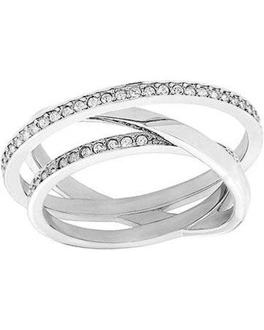 Swarovski | Metallic Spiral Ring | Lyst