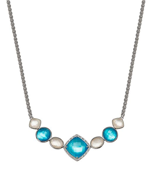 Lord & Taylor | Blue Moms Fashion Quartz And Sterling Silver Necklace | Lyst