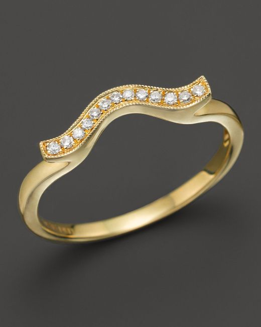 Dana Rebecca | 14k Yellow Gold And Diamond Sylvie Rose Wave Ring | Lyst