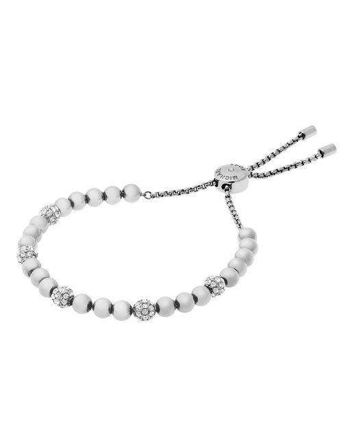 Michael Kors | Metallic Brilliance Pavé Beaded Slide Bracelet | Lyst