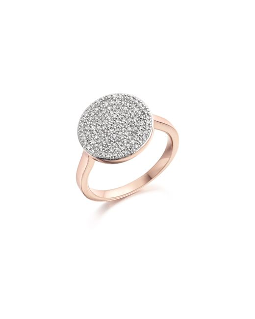 Monica Vinader | Pink Ava Disc Ring | Lyst