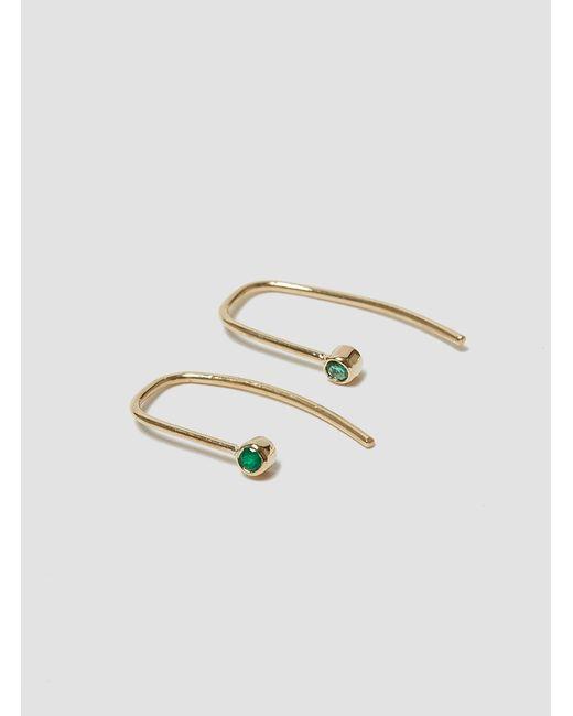 Grace Lee | Green Bezel Hook Earrings Emerald | Lyst