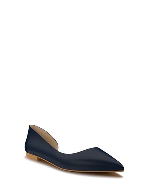 shoes of prey d orsay flat in blue navy blue leather lyst