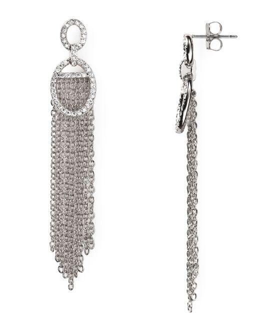 Nadri | Metallic Pavé Huggie Hoop Earrings | Lyst
