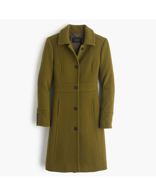 J.Crew | Green Tall Double-cloth Lady Day Coat With Thinsulate | Lyst