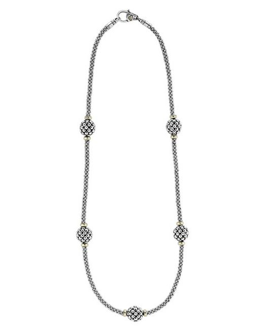 Lagos | Metallic 'caviar Forever' Station Rope Necklace | Lyst
