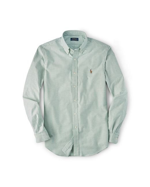 Polo Ralph Lauren | Green Slim-fit Stretch Oxford Shirt for Men | Lyst