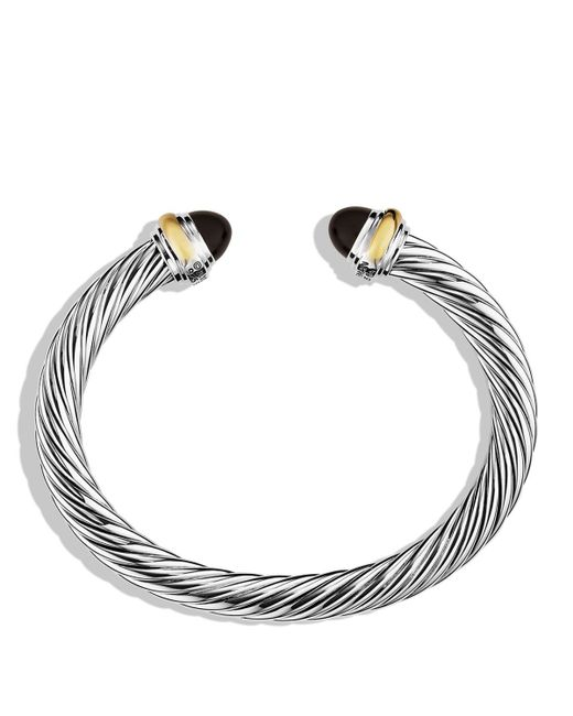 David Yurman | Cable Classics Bracelet With Black Onyx & Gold | Lyst