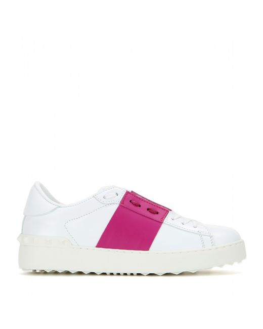 Valentino | White - Garavani 'open' Sneakers - Women - Calf Leather/rubber - 40 | Lyst