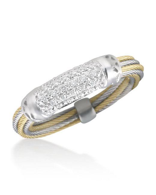 Alor | Metallic Pavé Diamond Bar Id Ring | Lyst