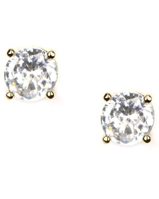 Givenchy | Metallic Earrings, Gold-tone Crystal Stud Earrings | Lyst