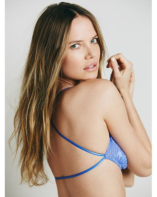 Free People   Blue Essential Lace Racerback   Lyst