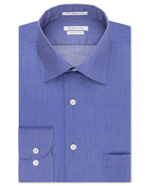 Van heusen men 39 s classic fit non iron herringbone dress for Van heusen non iron shirts