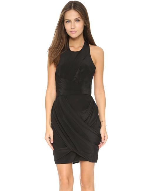 Zimmermann | Black Back Drape Dress | Lyst