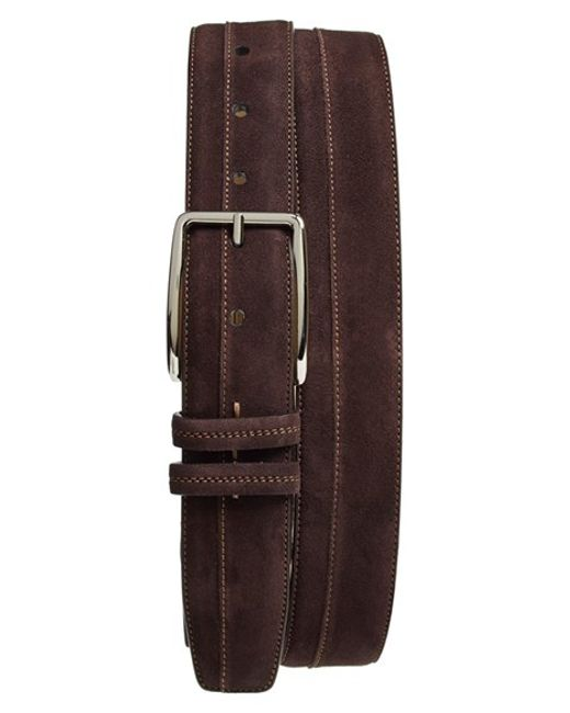 Mezlan | Brown Suede Belt for Men | Lyst