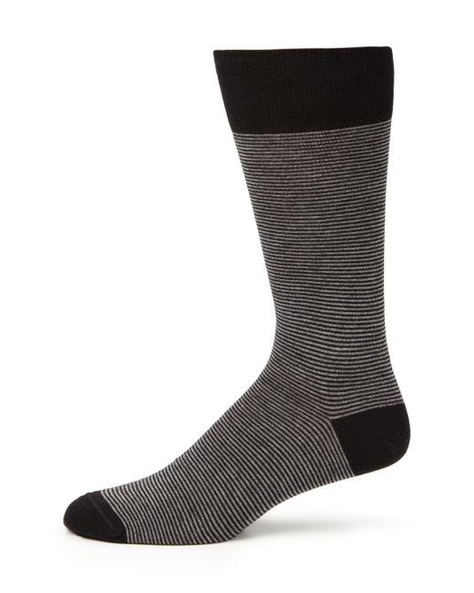 Saks Fifth Avenue | Black Cotton-blend Striped Socks for Men | Lyst