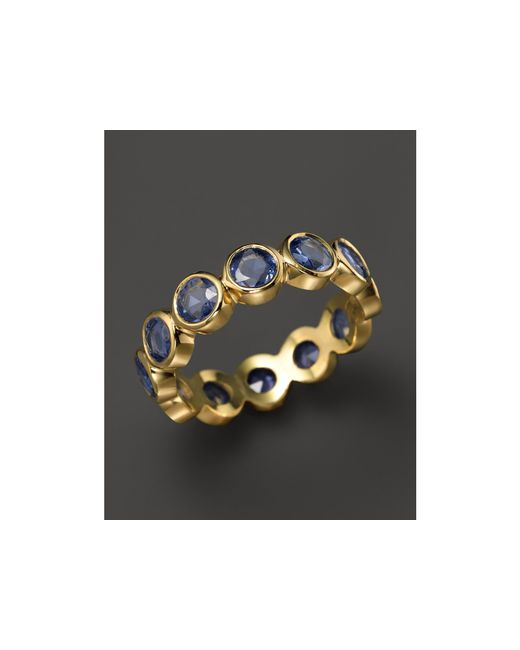 Temple St. Clair | 18k Yellow Gold Rose Cut Blue Sapphire Eternity Ring | Lyst