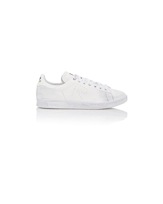 Adidas By Raf Simons | White Stan Smith Aged-Sole Low-Top Sneakers for Men | Lyst
