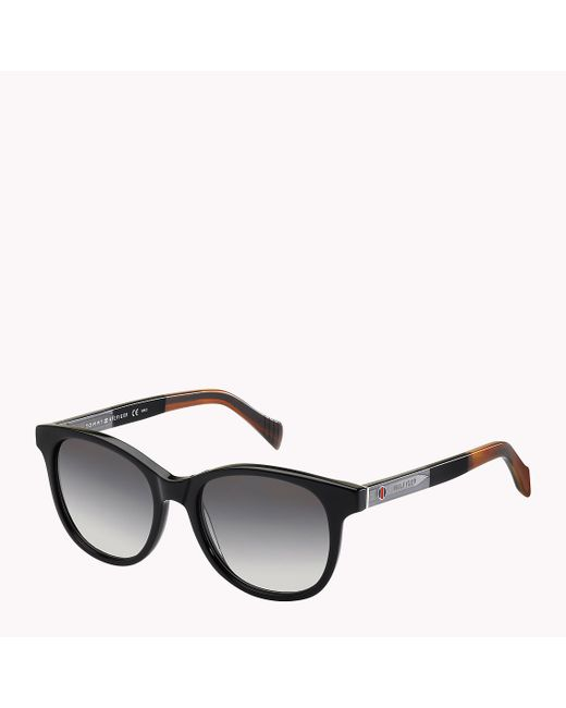 Tommy Hilfiger | Black Two-tone Sunglasses | Lyst