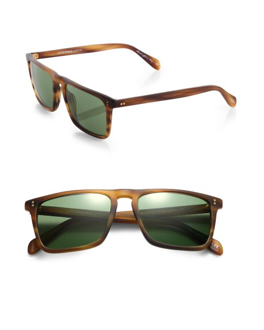 Oliver Peoples | Brown Bernardo Rectangle Sunglasses for Men | Lyst