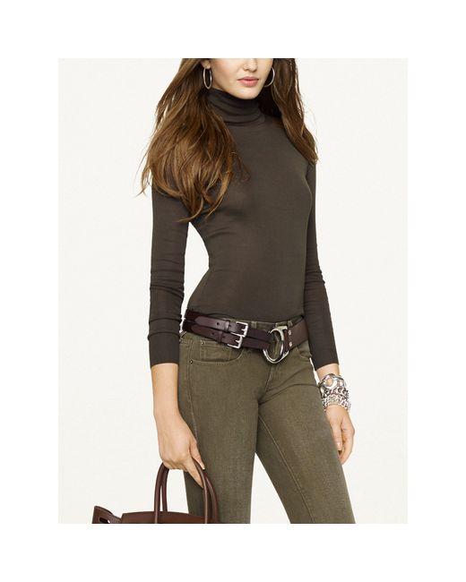 Pink Pony | Black Leather Tri-strap Belt | Lyst