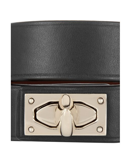 Givenchy | Black Hark Lock Bracelet In Leather And Gold-tone Bra | Lyst