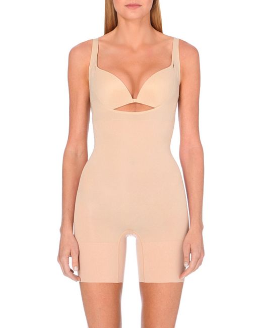 Spanx | Natural Shape My Day Open Bust Bodysuit | Lyst