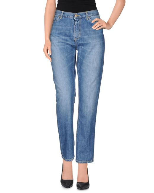 Dondup | Blue Denim Trousers | Lyst