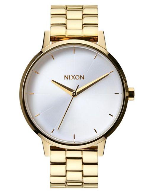 Nixon | Metallic 'the Kensington' Bracelet Watch | Lyst