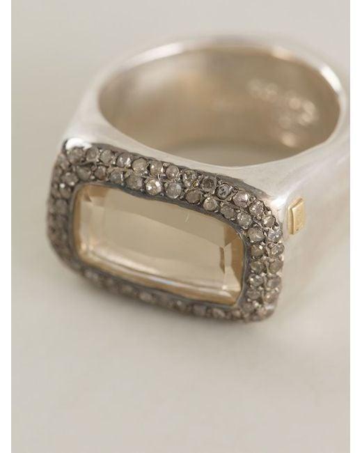 Rosa Maria | Metallic 'nasila' Grey Diamond Topaz Ring | Lyst