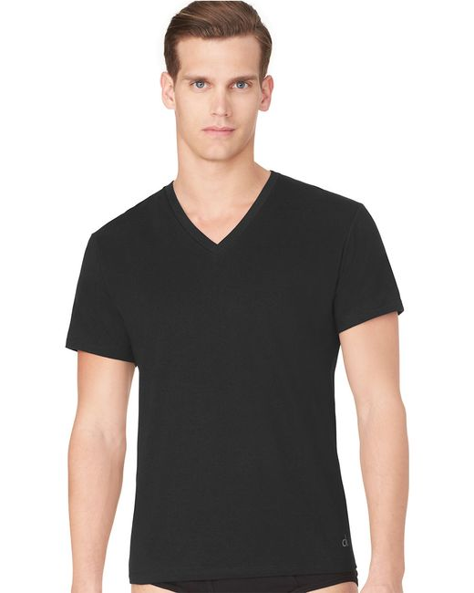 Calvin Klein | Black Two-pack Cotton Classic V-neck Tee for Men | Lyst