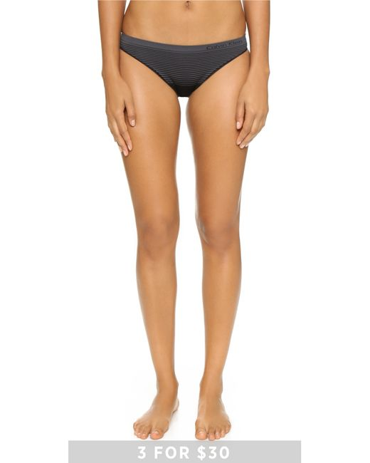 Calvin Klein | Black Seamless Illusions Bikini Panties | Lyst