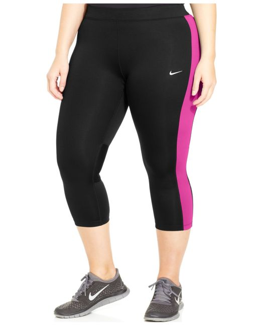 Nike | Pink Plus Size Performance Cropped Leggings | Lyst